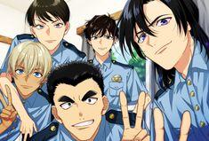 """みのる@CC福岡46グッズだすよ🌼さんのツイート: """"警察学校組ーっ!🚓 キャラあんま把握出来てない(꒪꒳꒪;) 全然違ったらごめんなさい💦 皆が健在の頃は、降谷さんが今より性格が丸かったらいいな✨✨… """" Dc Police, Police Story, Happy Tree Friends, Case Closed Anime, Vocaloid, Kaito Kid, Amuro Tooru, Detektif Conan, Kudo Shinichi"""