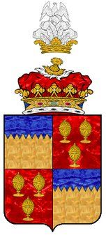 """Butler, Earl of Ormonde. The 1st and 4th quarters were used """"illegally"""" in the arms of Anne Boleyn as Marquess of Pembroke and Queen of England. European Heraldry"""