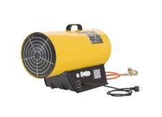 Aquecedor  a gáz MASTER  Modelo: BLP 53E  Tipo: Aquecimento directo  Ignição: Electrónica  Pressão: 0,75-1,5 bar  Capacidade máx.: 53 kW - 45.600 kcal/h  Capacidade min.: 36 kW - 31.000 kcal/h  Consumo gás: 3,78 kg/h  Deslocamento ar: 1.450 m3/h  Tensão: 230 V/ 50 Hz  Potência do motor: 0,55 A  Termóstato: TH-5 (opcional)  Peso: 12,5 kg Marca: Master