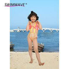 392842648ec Aliexpress.com : Buy 2016 New Summer Beach Bathing Suit Girls One piece Swimwear  Children Cute Floral Print Split Bathsuit Kids Children Swimsuit from ...