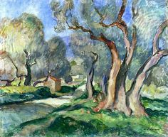 Path among Olive Trees - Henri Lebasque 1922  French 1865-1937