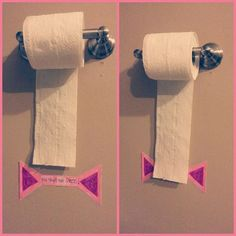Simple smart! Add a little piece of tape or arrows to the wall to show kids the appropriate amount of toilet paper to pull. For more fun and helpful parenting content, visit the Sparkhouse Family parenting blog at http://blog.sparkhouse.org. #parenting
