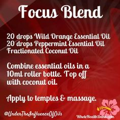 Roller bottles are a good way to make up #essentialoil blends for topical application. Use this one to help focus. #healthyisthenewblack