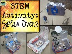 Check out this great post on designing solar ovens as a STEM activity! Lots of great info!