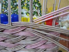 Поделка изделие День рождения Декупаж Плетение Продолжение детской темы Картон Салфетки Трубочки бумажные фото 7
