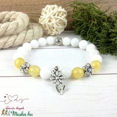 Sárga virágok jade ásvány karkötő (Arindaekszerek) - Meska.hu Beaded Bracelets, Jewelry, Jewlery, Jewels, Jewerly, Jewelery, Seed Bead Bracelets, Pearl Bracelet, Accessories