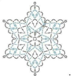 43 Ideas Crochet Christmas Star Diagram Snowflake Pattern For 2019 Crochet Snowflake Pattern, Crochet Stars, Crochet Snowflakes, Thread Crochet, Crochet Crafts, Crochet Flowers, Crochet Projects, Crochet Angels, Crochet Christmas Ornaments