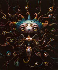 Surrealism and Visionary art Illustrations, Illustration Art, Candy Art, Eye Candy, Steampunk, Alien Art, Lowbrow Art, Hippie Art, Pop Surrealism