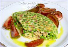Receta de Tortilla De Guisantes Con Jamón...