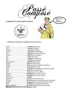Conjuguer les verbes au passé composé avec les auxiliaries avoir et être - Fiches FLE