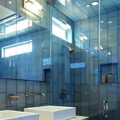 modern bathroom designs with glass tile idea