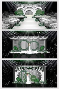 Simple white green wedding effect picture Wedding Stage Design, Wedding Stage Decorations, Backdrop Decorations, Backdrops, Indian Wedding Receptions, Wedding Mandap, Wedding Table, Wedding Ideas, Peach Wedding Invitations