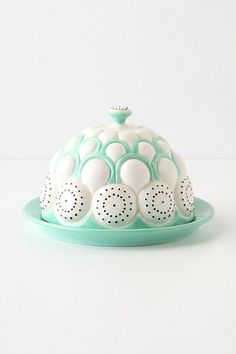 Anthropologie has the cutest butter dishes.  I collect them...and use them as catch-alls around the house.