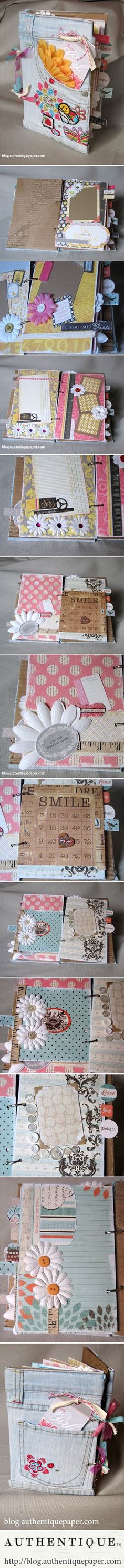 ... with a little pair of jeans | con un paio di jeans e ... tanto amore! #DIY #scrapbooking
