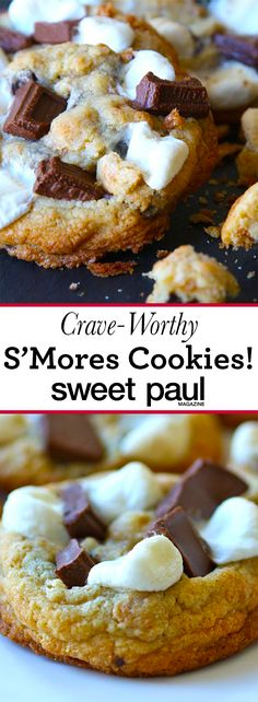 No campfire needed to enjoy this cookie version of a classic S'more!