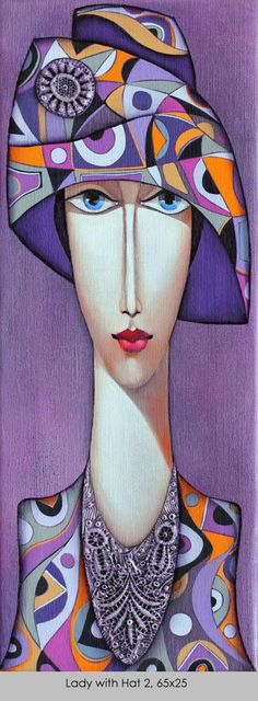 Club UpCycle Art & Life presents Lady with Hat by Wlad S .Club UpCycle Art & Life presents Lady with Hat from Wlad Safronow (Oil Canvas) UpCycl Silk Painting, Painting & Drawing, Woman Painting, Art And Illustration, Art Visage, Face Art, Modern Art, Pop Art, Art Projects