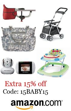 Right now get an extra 15% off many baby items at Amazon, using coupon code 15BABY15