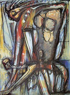 Salomé 2003 | Flavio-Shiró óleo sobre tela 181.00 x 133.00 cm
