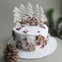 Новогодний торт торт с пряниками зимний торт