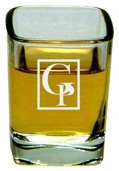 2 oz. Shooter...2 oz. Square Shooter Glass. These custom etched glass products show a mark of distinction. Etched on quality glassware, the custom art work is permanent and will not rub off. These products are great for business promotions, wedding favors, souvenirs, as special gifts, and much more. The prices are for each item.