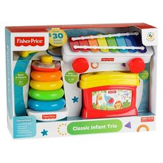 Gia - This value-priced set includes a Rock-a-Stack with five colorful rings to sort & stack, Baby's First Blocks with 10 colorful blocks to sort, Baby Gift Sets, Baby Gifts, Brinquedos Fisher Price, Fisher Price Baby Toys, Blocks For Toddlers, Luxury Baby Clothes, Baby Learning, Educational Toys For Kids, Baby Kind