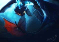 Nightfury by turnipBerry ... How to train your dragon, toothless, night fury, dragon