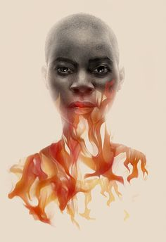 Greg Ruth Nnedi Okorafor The Book of Phoenix German edition illustration cover Black Women Art, Black Art, Photo Illustration, Digital Illustration, Illustrations, Brown Art, Double Exposure, Female Characters, Ny Times