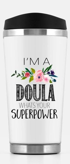 """""""I'm a Doula - What's your superpower?"""" Mug for a Doula! Great gift to say thank you to your doula! #affiliate"""