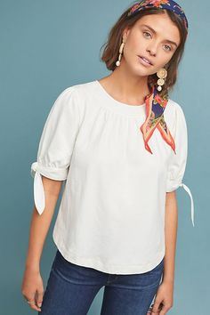 aea7ad65 Rialto Stitched Top | Anthropologie Casual Summer Outfits For Women, Summer  Work Outfits, Anthropologie