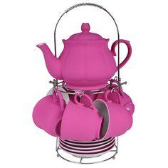 Jogo de chá Wonderland Rosa - U139
