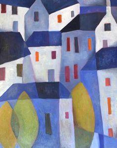 Blue Townscape by Jeremy Mayes