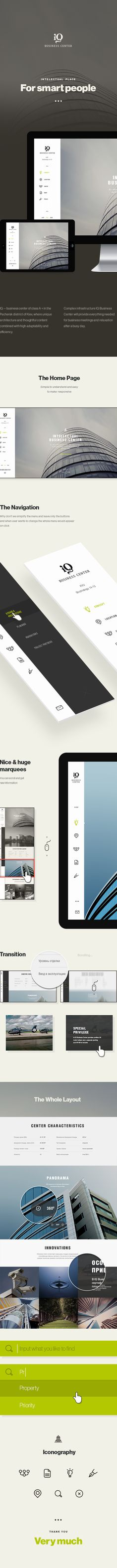 IQBC Responsive Concept by Dima Shvedun, via Behance - Nice vertical navigation