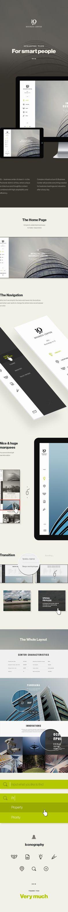 IQBC Responsive Concept by Dima Shvedun, via Behance - Nice vertical navigation