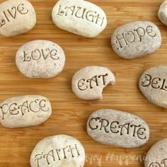 Hungry Happenings: Sweet Serenity Stones - yes, another edible rock project!