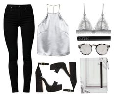 """Silver"" by baludna ❤ liked on Polyvore featuring H&M, Cheap Monday, Illesteva, NARS Cosmetics and Maison Margiela"