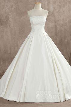 LB3897 サテン ビスチェ ウエディングドレス