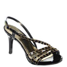 #Sandalo in vernice nera con rifiniture oro di #EmanuelaPasseri  http://www.tentazioneshop.it/scarpe-emanuela-passeri/sandalo-4037-nero-emanuela-passeri.html