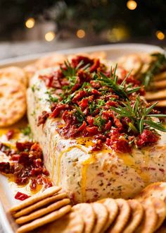 Christmas Appetiser Italian Cheese Log with Christmas tree in background - festive appetizer for the holidays food ideen ideas food food food Holiday Appetizers, Appetizer Recipes, Holiday Recipes, Christmas Recipes, Dip Recipes, Italian Christmas Food, Christmas Cooking, Cream Cheese Appetizers, Pimento Cheese Recipes