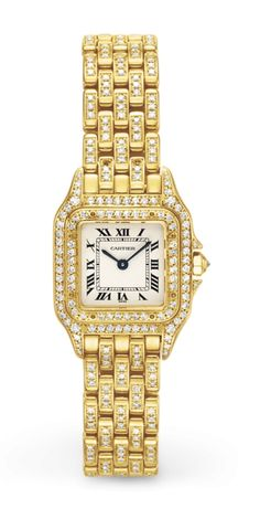 "A Diamond and Gold ""Panthere"" Wristwatch, By Cartier #ChristiesWatches"