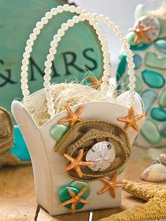 DIY Nautical Beach Wedding Favor Containers