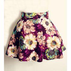 Purple Vintage Floral Print Pleated Skirt ❤ liked on Polyvore featuring skirts, vintage skirts, floral printed skirt, purple skirt, floral pleated skirt and flower print skirt