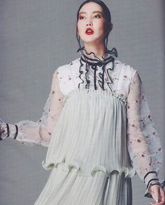 1f2eff6459f last week in  lookmagazine the Marlena Embroidered Dress layered under a  slip  AUnicornRide Rider