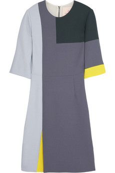 Roksanda Ilincic Color-block wool-crepe dress | NET-A-PORTER