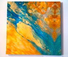 Keith Boyd's abstract art painting Between the Moon by CuratedLoom