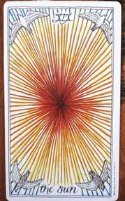 Image is from the wild unknown tarot by kim krans & is the sole copyright of kim krans.  #Weeklytarot for Jul 14-18  The Sun (XIX) is the 19th card of the Major Arcana & is a card of blessings & good fortune when it turns up in a tarot spread. It's all about what's going right in your life at the moment. And since it is now 2 days after the full moon in Capricorn, it also means that anything that has been in the works since early to mid January is now bearing fruit.
