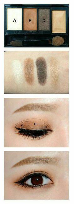 37 New Ideas For Makeup Looks Dark Skin Eyeshadows - Eyeliner Korean Makeup Look, Korean Makeup Tips, Asian Eye Makeup, Natural Eye Makeup, Blue Eye Makeup, Eye Makeup Tips, Makeup Hacks, Makeup Ideas, Makeup List