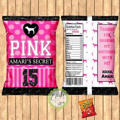 Victoria's Secret Pink Inspired Chip Bags PINK Inspired