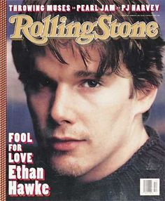 Ethan Hawke in the Like A Rolling Stone, Rolling Stones, Kyle Schmid, Rolling Stone Magazine Cover, My Magazine, Magazine Covers, Ethan Hawke, Dead Poets Society, School Lockers