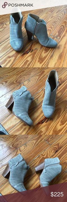 """Rag & Bone Margot Booties Size 41/11 Gray perforated suede ankle boots with 3.5"""" heel. Laser cut suede is open and unlined, perfect for spring and summer! These limited edition boutique exclusives have been worn only once. They're in fantastic condition. Box included. rag & bone Shoes Ankle Boots & Booties"""