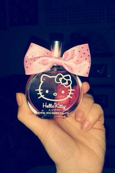 Image via We Heart It https://weheartit.com/entry/152089754/via/30701293 #bow #cute #fashion #HelloKitty #perfume #pink #sanrio #swag
